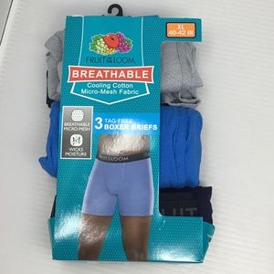 Fruit of the Loom 3-Pack Tagoess Boxer Briefs (H5)
